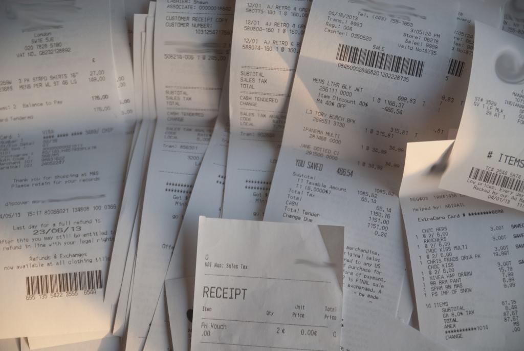 fake receipt photos
