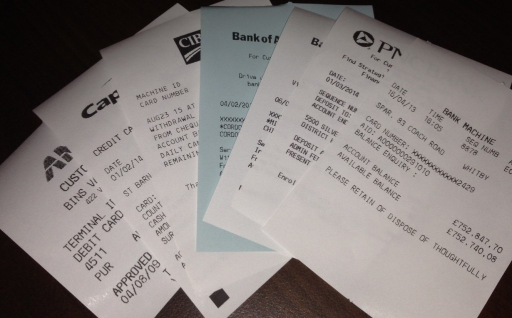 ATM Receipts from Banks