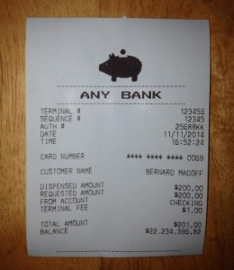 Fake ATM Terminal Receipts | ATM Receipts with Huge Balances