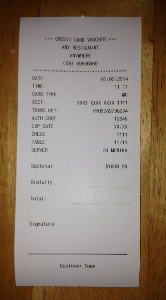 Fake Receipt Templates | Free Receipt Templates | We Print Your Receipts and mail them to you ...